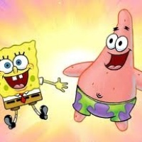 As happy as Spongebob and Patrick