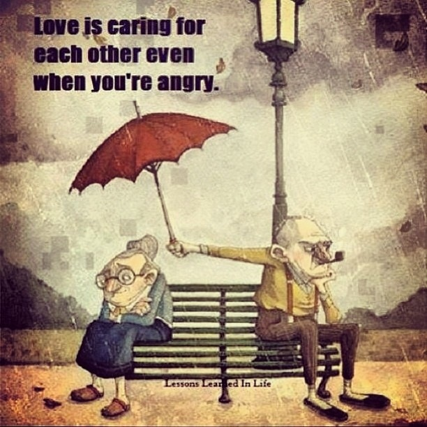 Care for each other even when you're angry